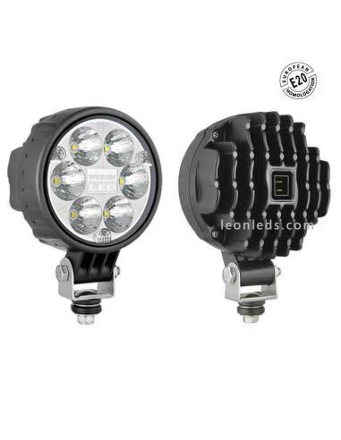 Faro Redondo Con Conector 6 LEDs 12-24V  -Homologado E20-   LeonLeds Iluminación
