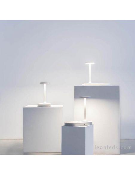 Lámpara de mesa LED con carga inalambrica 7290 blanca | LeonLeds Iluminación