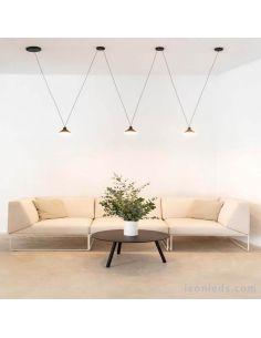 Lámpara de techo LED Antares 3 Pantallas de Mantra Hugo Tejada 7311 | LeonLeds Iluminación