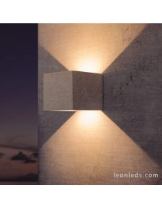 Aplique LED exterior Cemento Blanco Taos 7109 Mantra | LeonLeds Iluminación