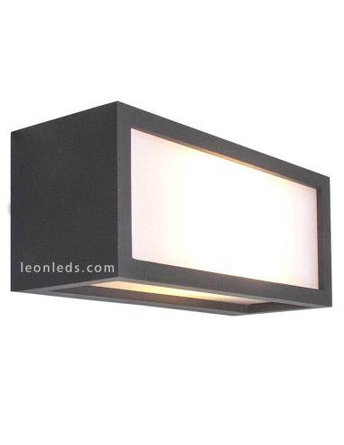 Aplique exterior rectangular Utah Gris Oscuro de Mantra 7050 | LeonLeds