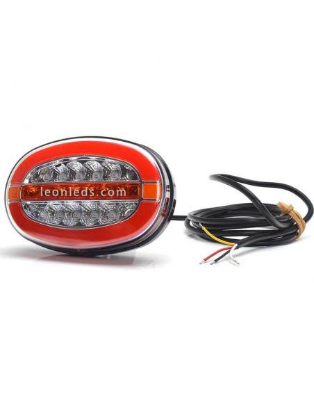 Piloto LED 3 funciones ovalado Was Homologado 1432 | LeonLeds Iluminación