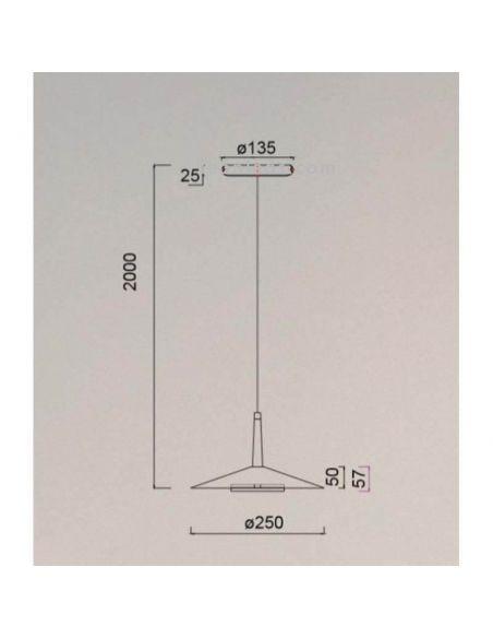 Dimensiones Lámpara de techo LED Orion 7305 Mantra | LeonLeds Iluminación
