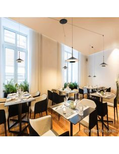 Restaurante con Lámpara de techo LED 4 Pantallas Orion 7307 Mantra | LeonLeds Iluminación