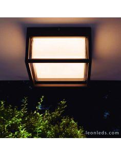 Plafón Aplique exterior cuadrado LED Chamonix 7060 Mantra | LeonLeds Iluminación