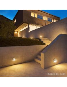 Baliza superficie LED redonda Baker Mantra | LeonLeds Iluminación