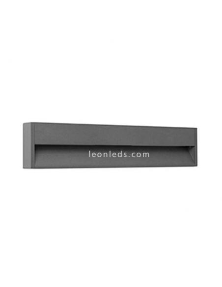 Baliza LED rectangular de exterior Grada 3 Gris Oscuro 70910 Faro Barcelona | LeonLeds Iluminación