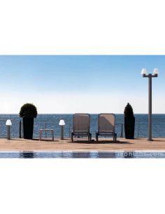 Farola de jardín moderna 2 brazos Mistu Faro Barcelona 74435 74428 | LeonLeds Iluminación