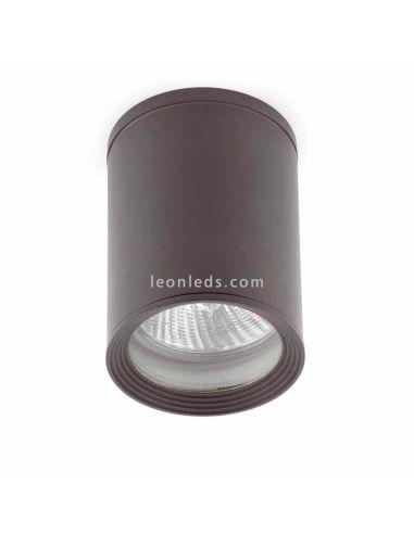 Plafón moderno de exterior gris oscuro redondo Tasa 70806   LeonLeds Iluminación
