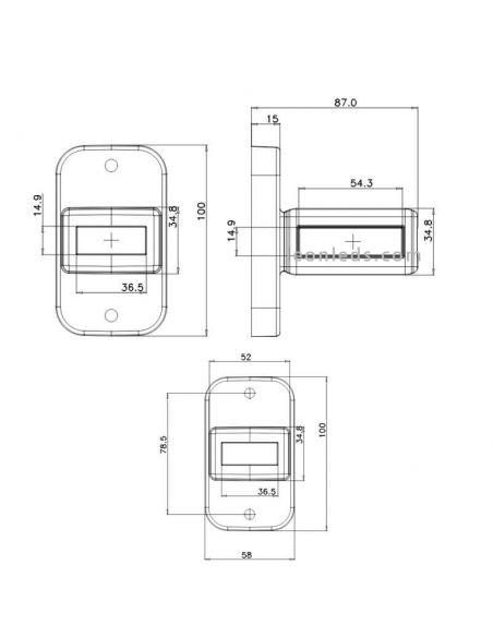 Dimensiones Cuerno LED corto con intermitente W168 categoria 5 | LeonLeds