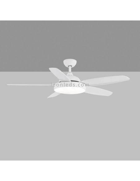 Ventilador de techo LED potente blanco Mistral ACB Iluminación | LeonLeds Iluminación