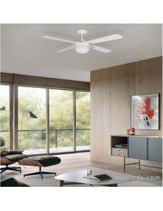 Ventilador LED blanco moderno Narai ACB Iluminación   LeonLeds Iluminación