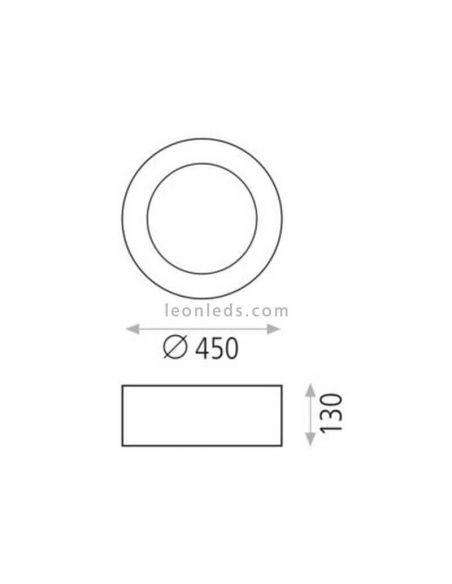 Dimensiones Plafón LED blanco Dilga con Smart Control ACB Iluminación | LeonLeds Iluminación