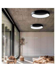 Plafón LED negro Dilga con Smart Control ACB Iluminación | LeonLeds Iluminación