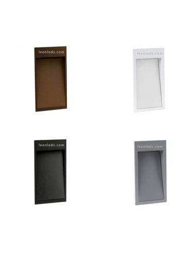Empotrable exterior rectangular LED Dain S Cristher | LeonLeds Iluminación