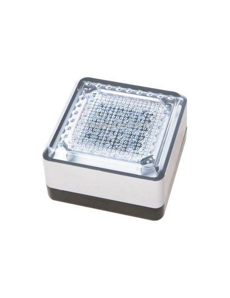 Baliza LED solar exterior cuadrada UTU Cristher Lighting   LeonLeds Iluminación