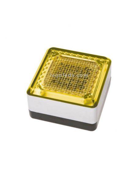 Baliza LED solar exterior cuadrada UTU Exo Lighting   LeonLeds Iluminación