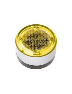 Baliza LED solar de señalización redonda ambar UTU Cristher Lighting | LeonLeds Iluminación