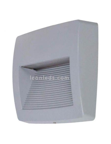 Aplique LED de superficie gris exterior cuadrado Storm S Dopo Lighting   LeonLeds Iluminación