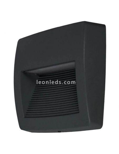 Aplique LED de superficie negro exterior cuadrado Storm S Dopo Lighting | LeonLeds Iluminación