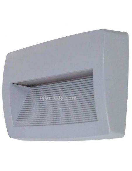 Aplique LED rectangular exterior gris Storm Dopo Lighting | LeonLeds Iluminación
