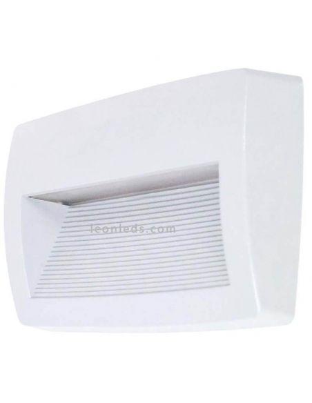 Aplique LED rectangular exterior Storm Dopo blanco Lighting | LeonLeds Iluminación