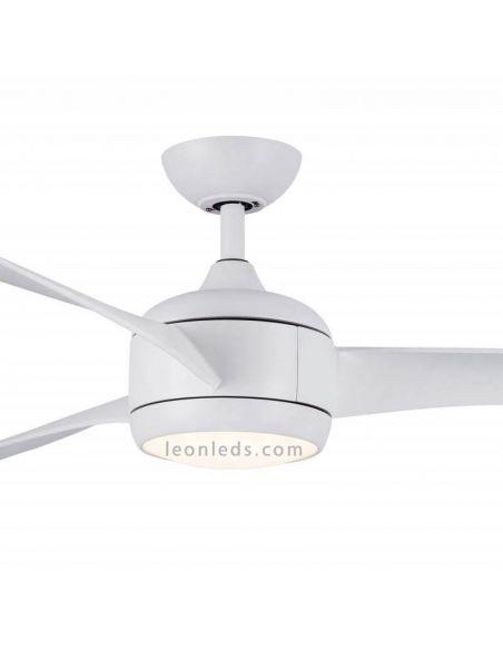 Ventilador de Techo LED blanco 3 aspas con luz Rahu Iot Sulion   LeonLeds Iluminación