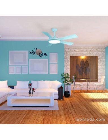 Ventilador de Techo Azul LED Bernat Iot Sulion   LeonLeds Iluminación