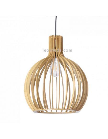 Lámpara de techo en madera redonda Arce | LeonLeds Iluminación