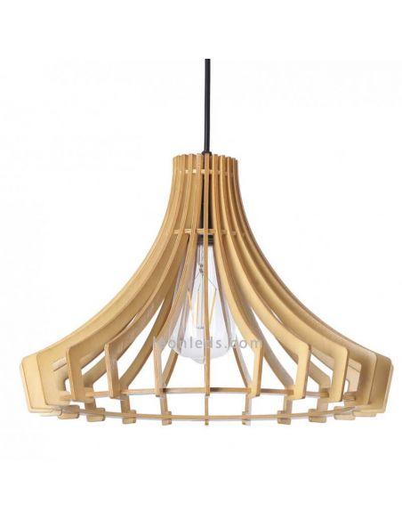 Lámpara de techo nórdica madera Arce   LeonLeds Iluminación