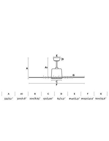 MOLOKAI Ventilador de techo níquel mate con motor DC – Faro