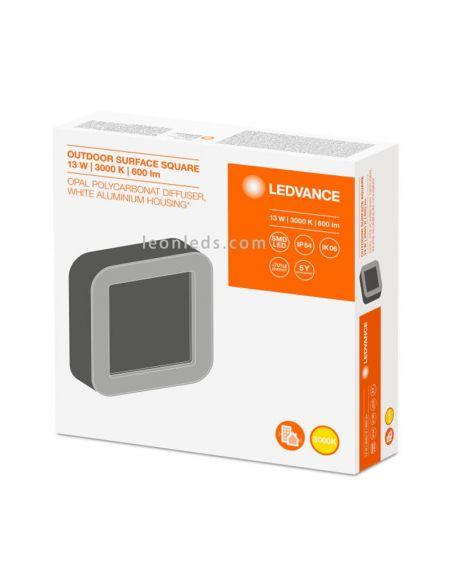 Caja Aplique LED cuadrado blanco Surface Square Led Vance | LeonLeds Iluminación