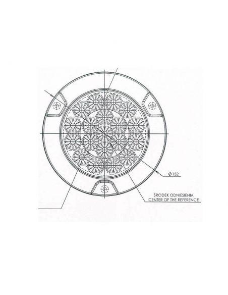 Dimensiones Piloto Marcha Atrás LED Redondo Empotrado 12/24V | LeonLeds Iluminación