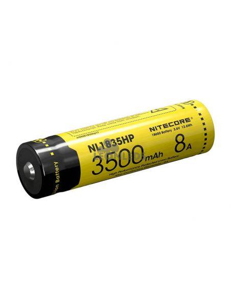 Batería de Litio 18650 3500 mAh Nitecore NL1835HP recargable 8A   LeonLeds Baterías