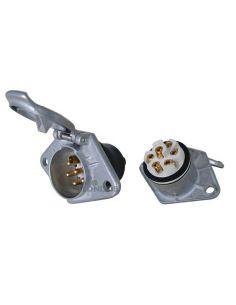 Base enchufe 24V Tipo S Metálica (Hembra) D10874 Vignal | LeonLeds Iluminación