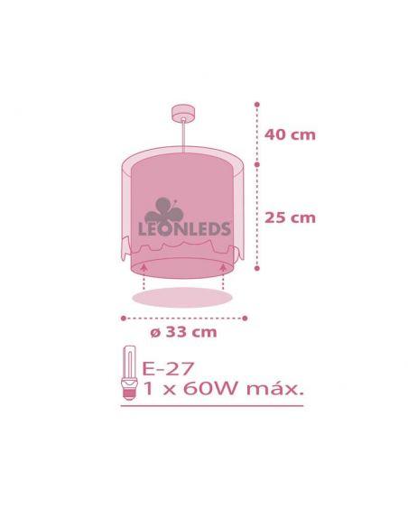 Dimensiones Lámpara de techo para bebe elefantes Little Elephant Dalber 61332S | LeonLeds Iluminación