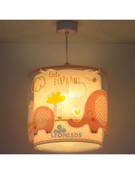Lámpara de techo para bebe elefantes Little Elephant Dalber | LeonLeds Iluminación