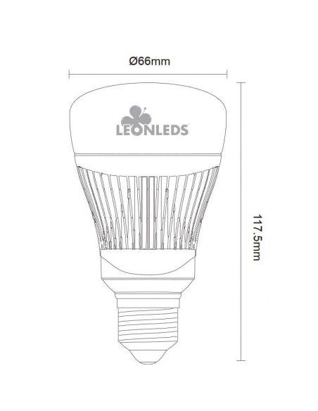 Bombilla LED WiZ regulable inteligente medidas WiFi E27 11,5W Trio Lighting   León Leds Iluminación