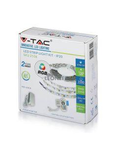 Tira LED 2558 9W/m IP20 RGB 5 metros Vtac | tira LED RGB multicolor caja | Venta de tiras LED| LeonLeds Iluminación