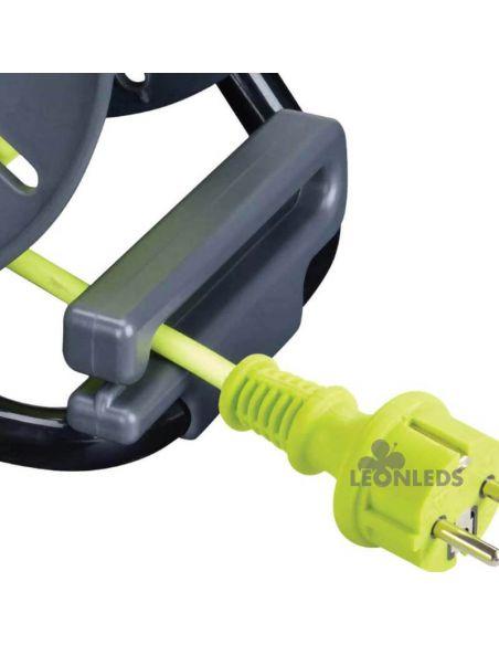 Enrollacable IP44 25M + 3 Enchufes 3000W 250V Luceco Pro XT | LeonLeds