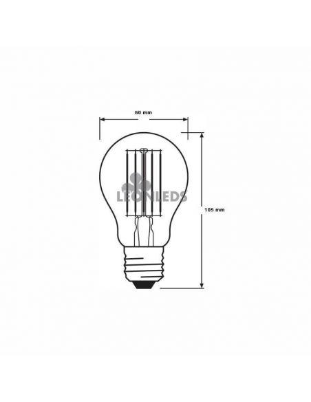 Bombilla LED E27 Filamento PARATHOM 10W A60 | Bombilla LED A60 Vintage OSRAM 2700K| LeonLeds Iluminación