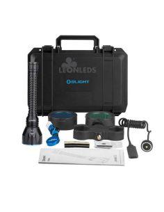 Maletin Kit de caza Linterna Javelot Pro 2100 Olight LED de largo alcance | LeonLeds Iluminación