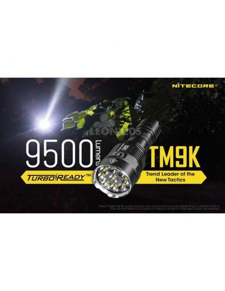 Linterna de Mano Nitecore TM9K 9500Lm Turbo Ready | más de 60 horas de duración | LeonLeds Iluminación