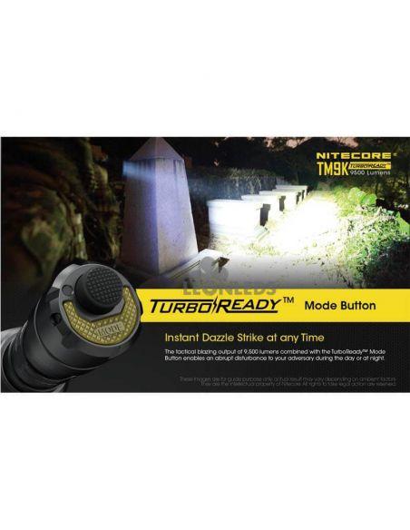Linterna de Mano Nitecore TM9K 9500Lm Turbo Ready | válida para expediciones militares | LeonLeds Iluminación