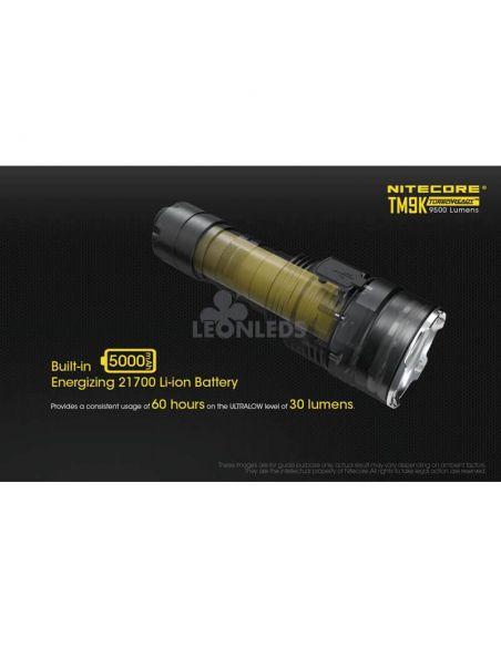 Linterna de Mano Nitecore TM9K 9500Lm Turbo Ready | batería altamente resistente | LeonLeds Iluminación