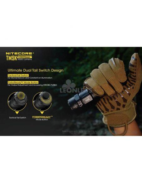 Linterna de Mano Nitecore TM9K 9500Lm Turbo Ready | fácil uso | LeonLeds Iluminación