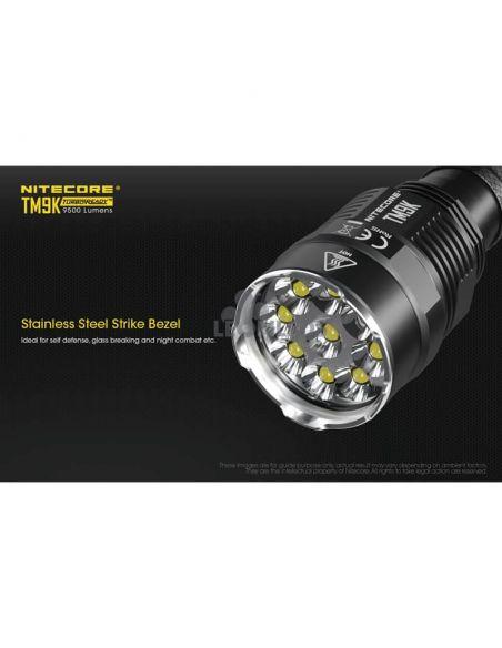 Linterna de Mano Nitecore TM9K 9500Lm Turbo Ready | 9 LEDs y 9500 lúmenes | LeonLeds Iluminación