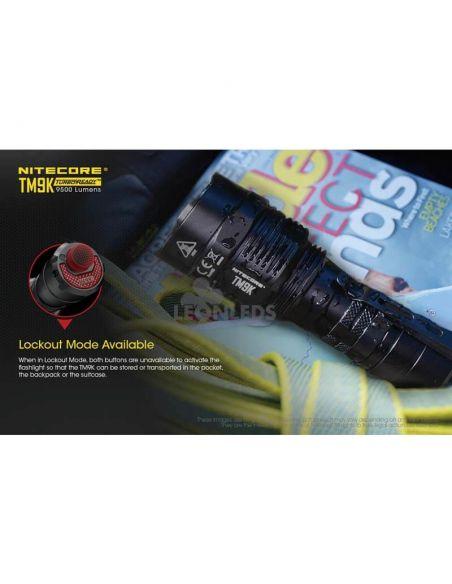 Linterna de Mano Nitecore TM9K 9500Lm Turbo Ready | con modo bloqueo | LeonLeds Iluminación