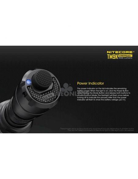 Linterna de Mano Nitecore TM9K 9500Lm Turbo Ready | con indicador de bateria | LeonLeds Iluminación