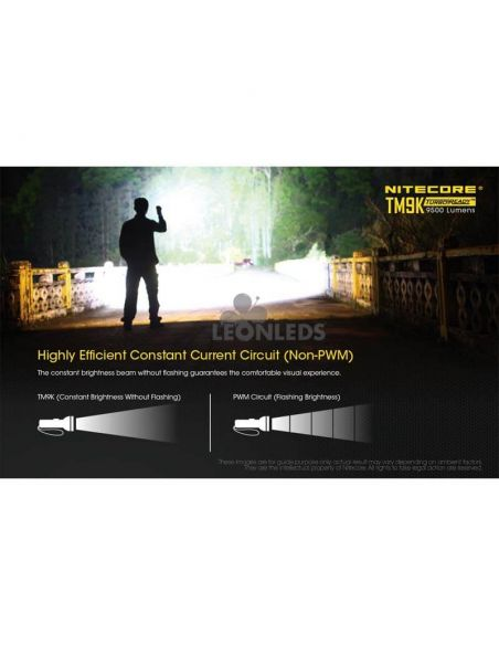 Linterna de Mano Nitecore TM9K 9500Lm Turbo Ready | iluminar expediciones nocturnas | LeonLeds Iluminación